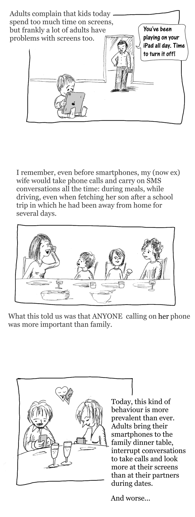 Smartphone blues cartoon story part 1