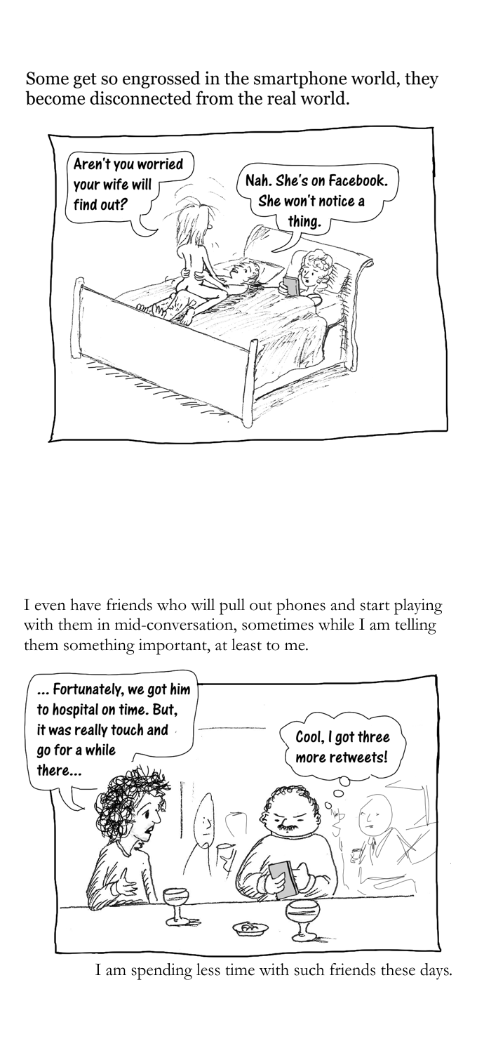 Smartphone blues cartoon story part 2