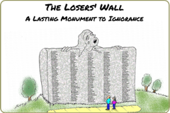 "Illustrated story thingie link leading to ""Losers' Wall"""