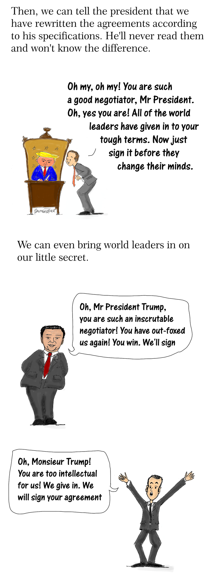 How to trump Trump on international agreements part 2