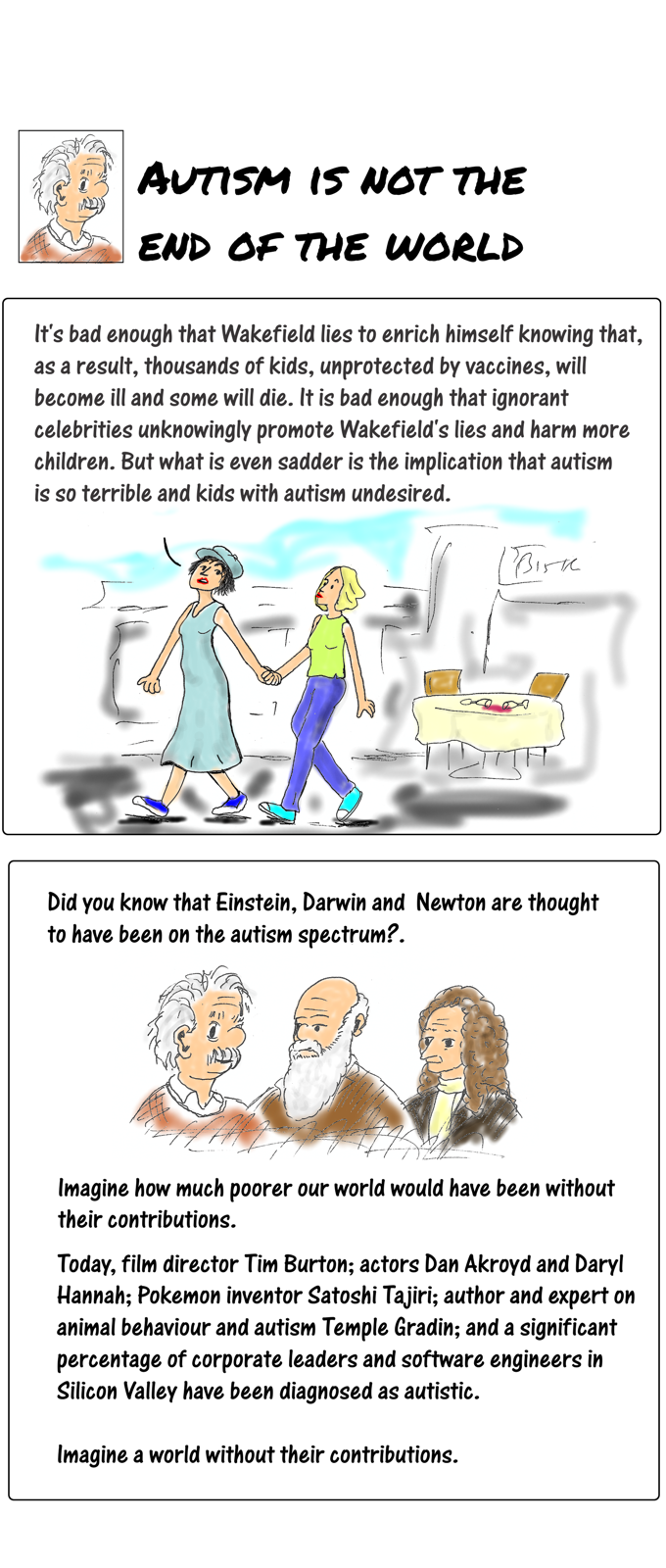 Cartoon story: vaccines, autism, a rant and a thought part 6 - updated