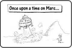 "Link to cartoon story ""Mars Does Not Want Immigrants"""