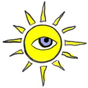 Sun with one eye